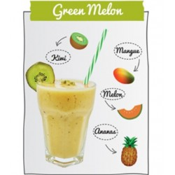 "Smoothie ""Green Melon"" mangue melon ananas kiwi"